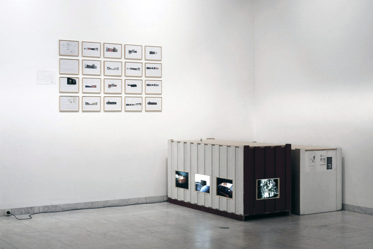Left: Manfred Pernice, untitled (1998); Right: Manfred Pernice, Bell II, 11 (1998) & Bell II, 11 (1998)