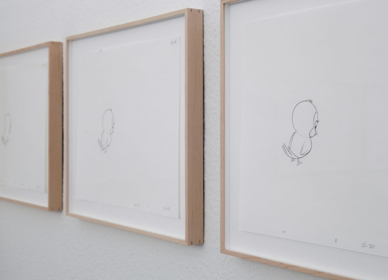 Mathias Poledna, untitled (Animation drawing) (2013) (detail)