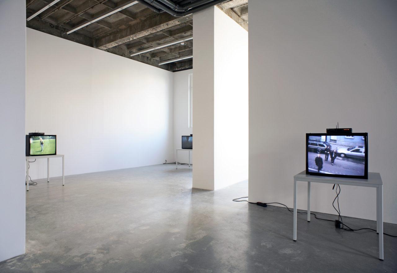 Heimo Zobernig: Video Installationsansicht