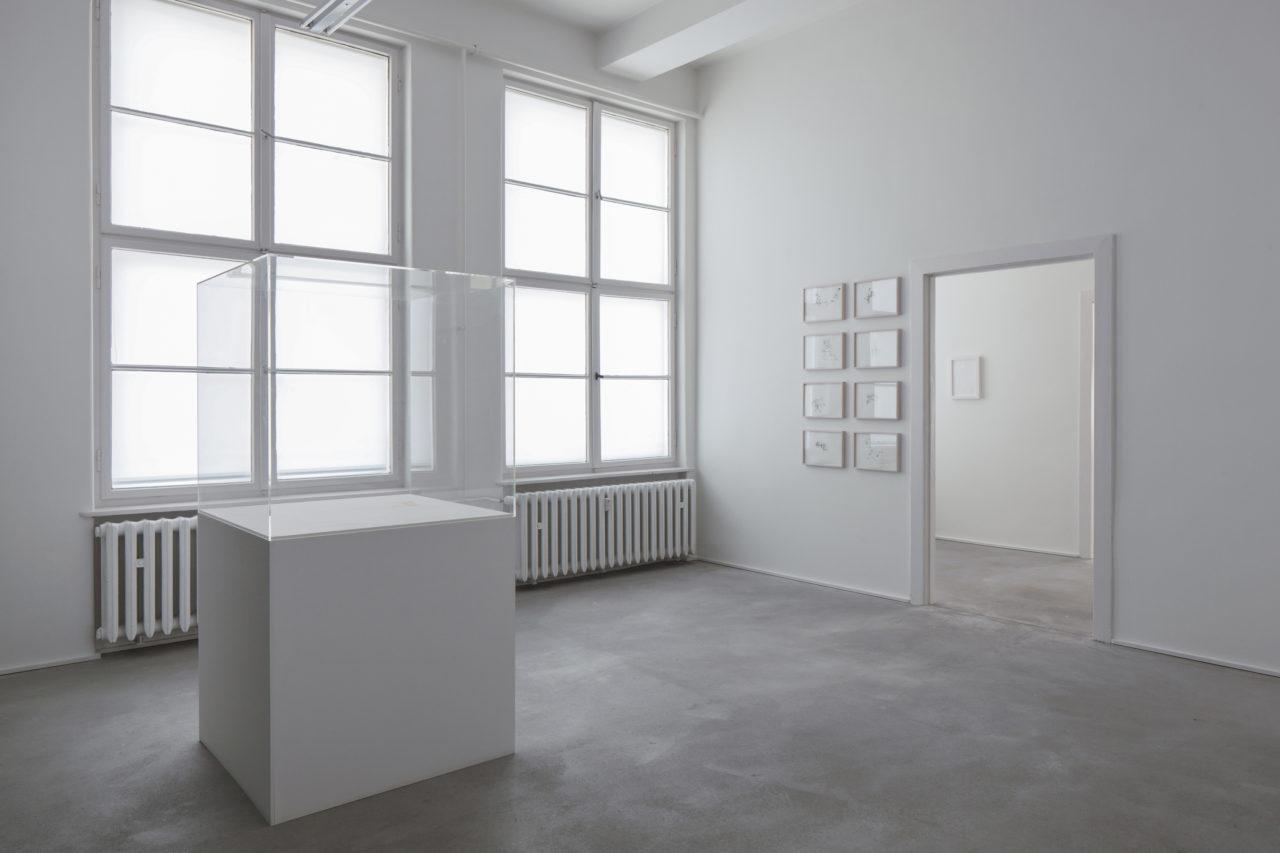 Links: Martin Kippenberger, Die bunte Welt des Kanarienvogels (1991); Hintergrund Mitte: Peter Piller, Aachen Mental Maps (2000); Hintergrund rechts: Martin Creed, Work no. 1262 (2011)