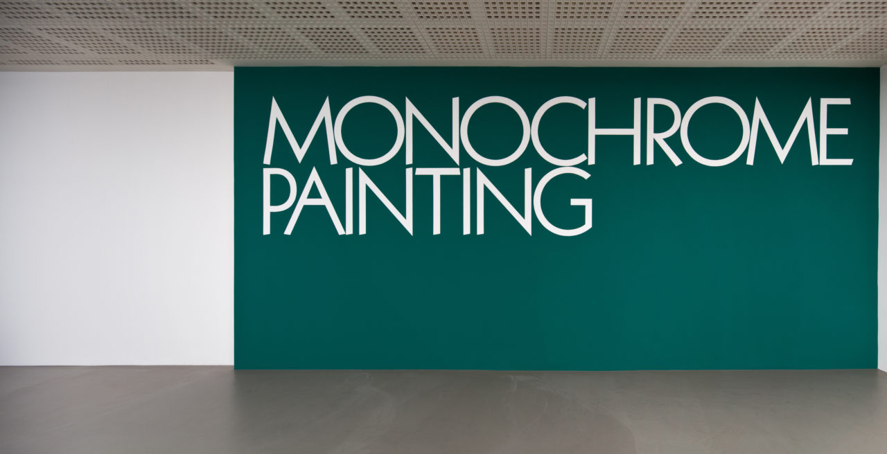 Stephen Prina, Monochrome painting (Wandmalerei) (1988/1989)