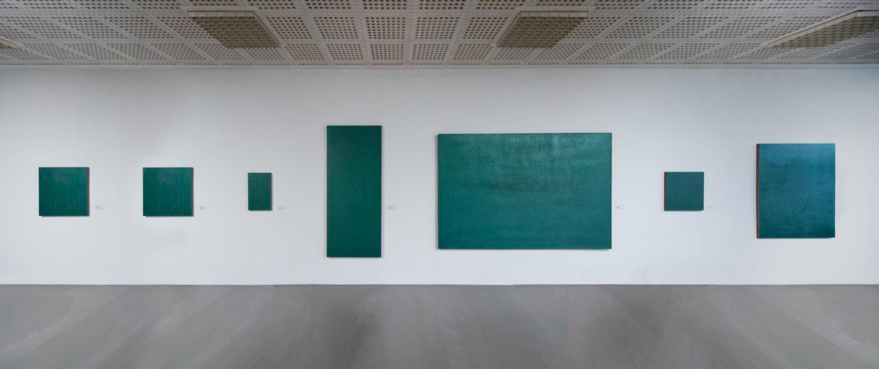 Stephen Prina, Monochrome painting (1988/1989) (detail)
