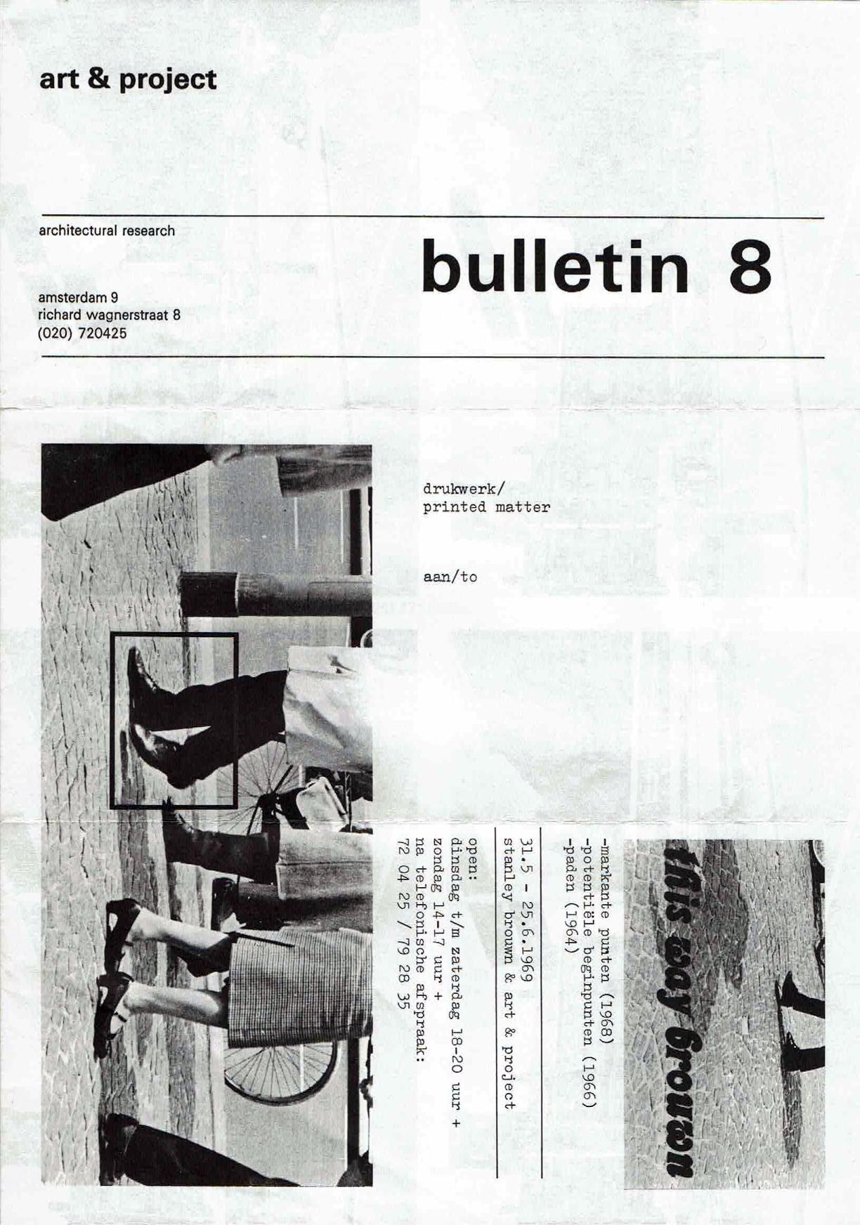 Stanley Brouwn, Bulletin 8 (1969)