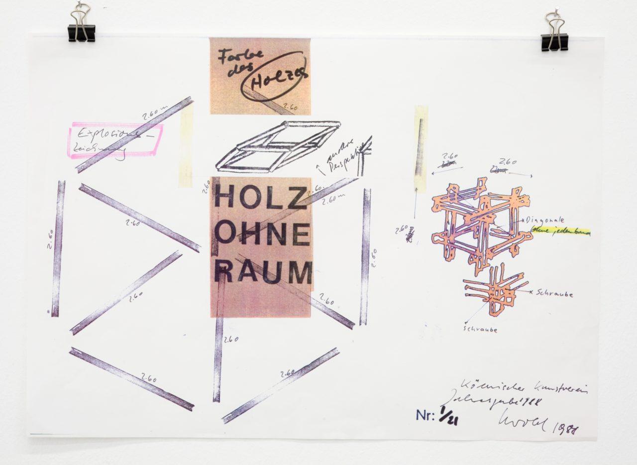 Georg Herold, Holz ohne Raum (1988) (detail)