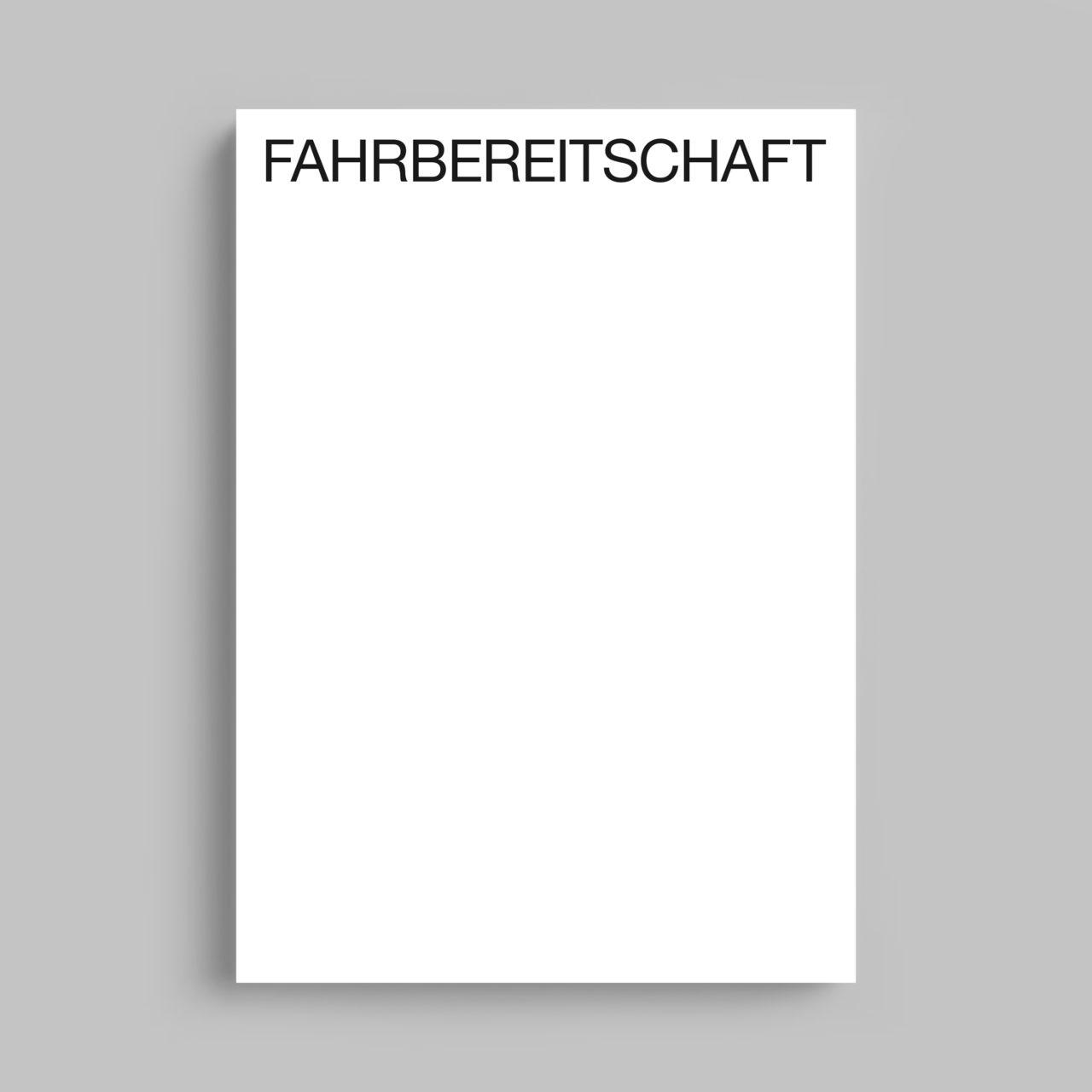 FAHRBEREITSCHAFT, Kerber Verlag (2019)