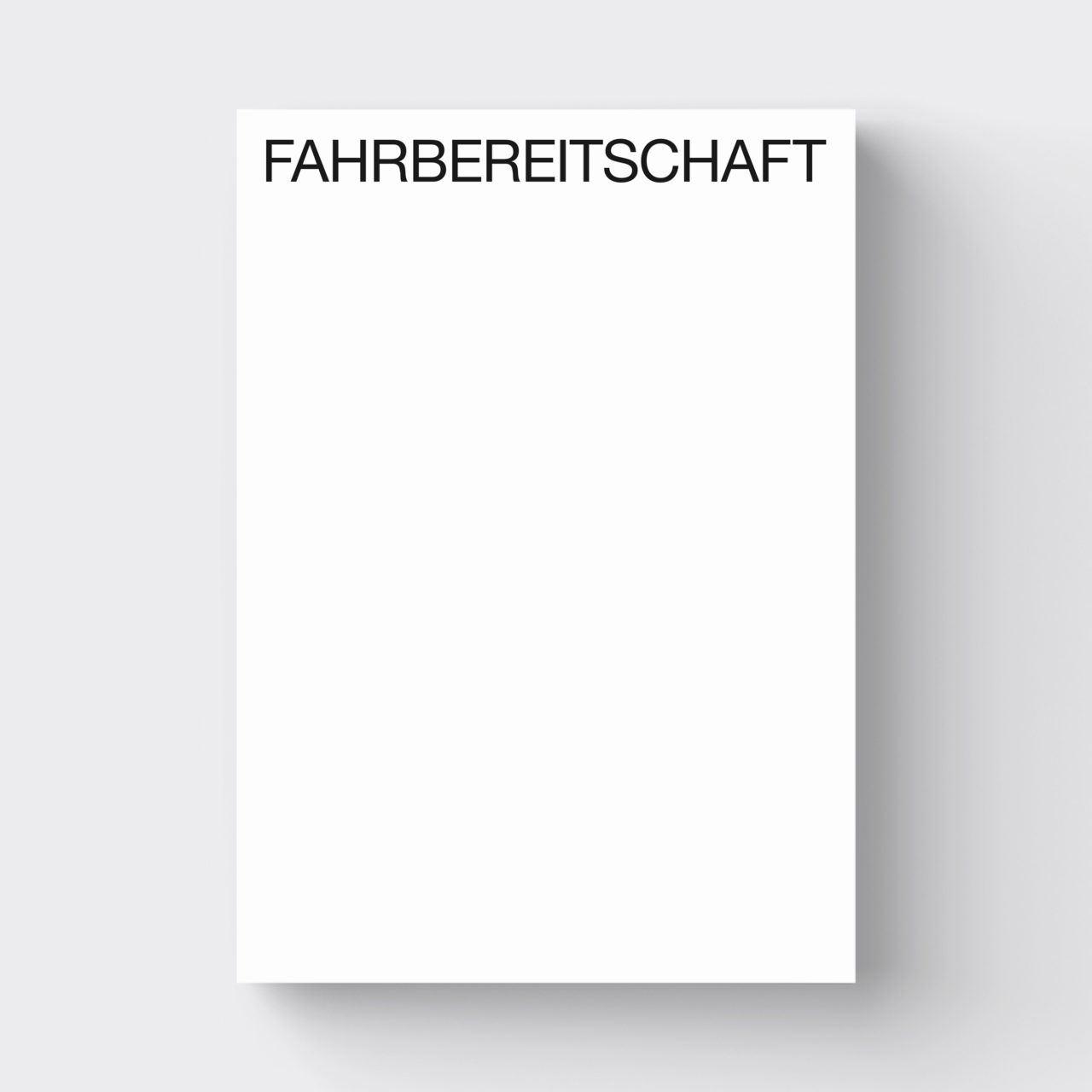 FAHRBEREITSCHAFT, Kerber Verlag, 2019