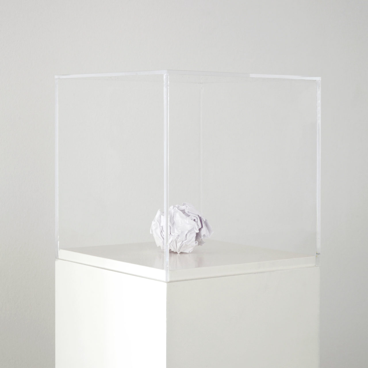 Martin Creed, Work No. 218: A sheet of paper crumpled into a ball (US letter) (1999)