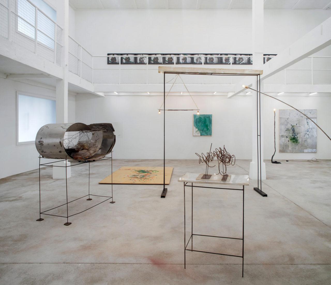 Rudolf Polanszky beleuchtet von F. West, Installation vies