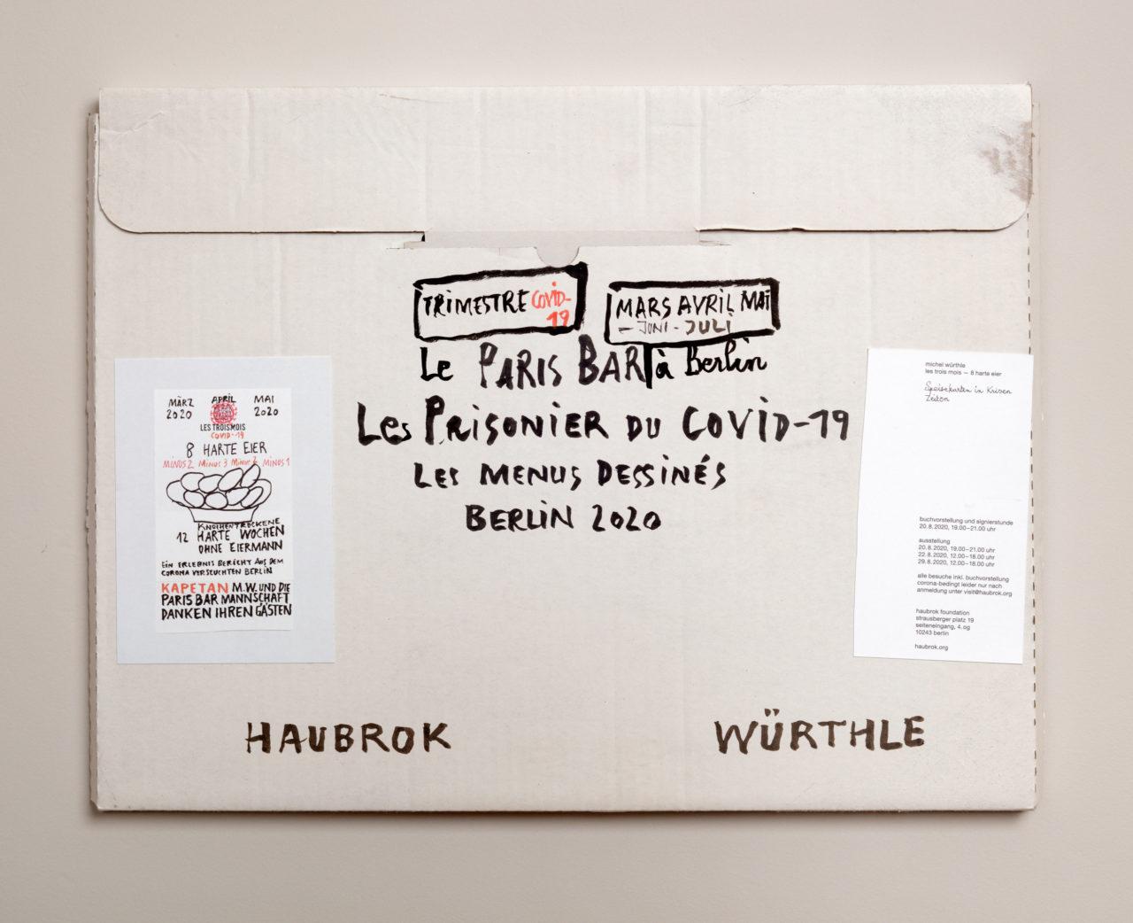Michel Würthle: Les Trois Mois, Installation view